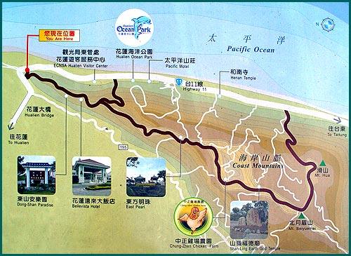 花蓮嶺頂越嶺道地圖